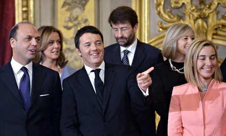 Italy's newly appointed Prime Minister Matteo Renzi