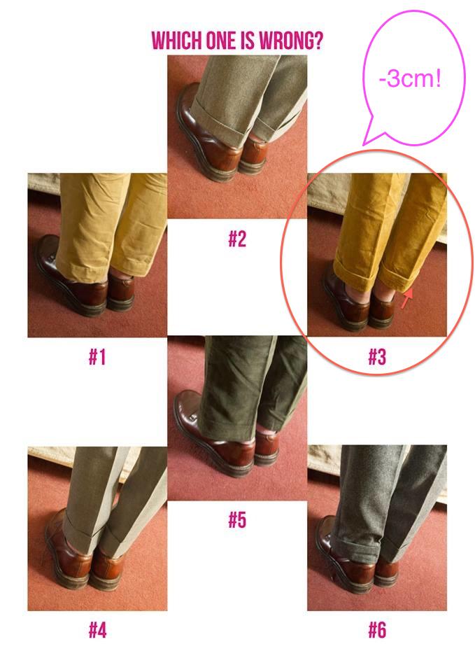 longueur pantalons