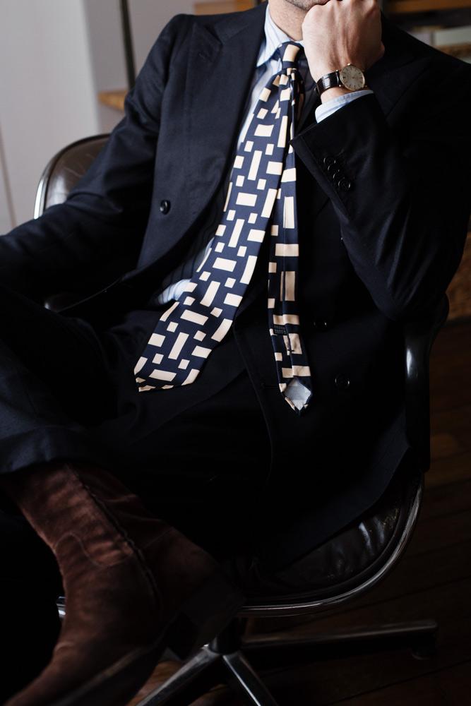 costume-bespoke-sartoria-peluso-flanelle-bleu-chemise-buttice