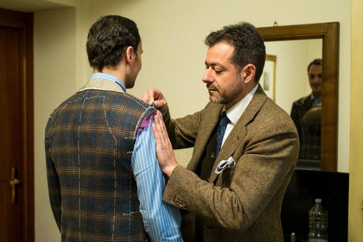 essayage-pino-peluso-veste-laine-cashmere