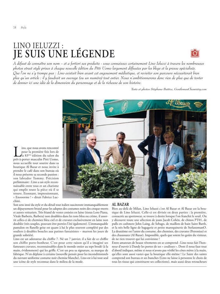 Gentleman Chemistry: Al Bazar de Lino Ieluzzi reportage pour DandyMagazine
