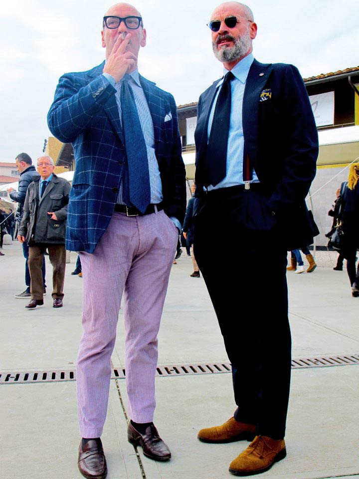 Le chemisier Francesco Avino et Antonio Rossi au salon professionnel Pitti Uomo 83 à Florence.