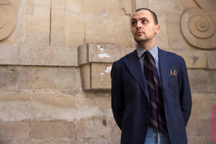 look cravatta marino pochette calabrese giacca orazio luciano by cécile