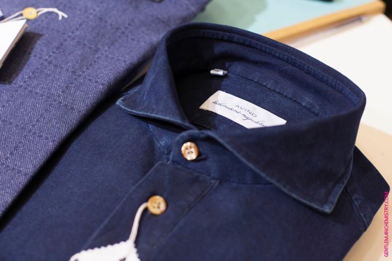 avino denim shirt dettail copie