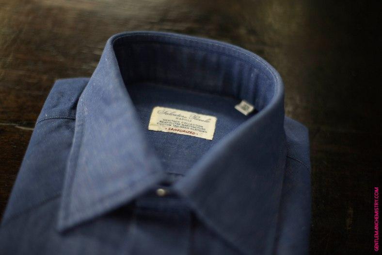 salvatore piccolo camicia etichetta copie