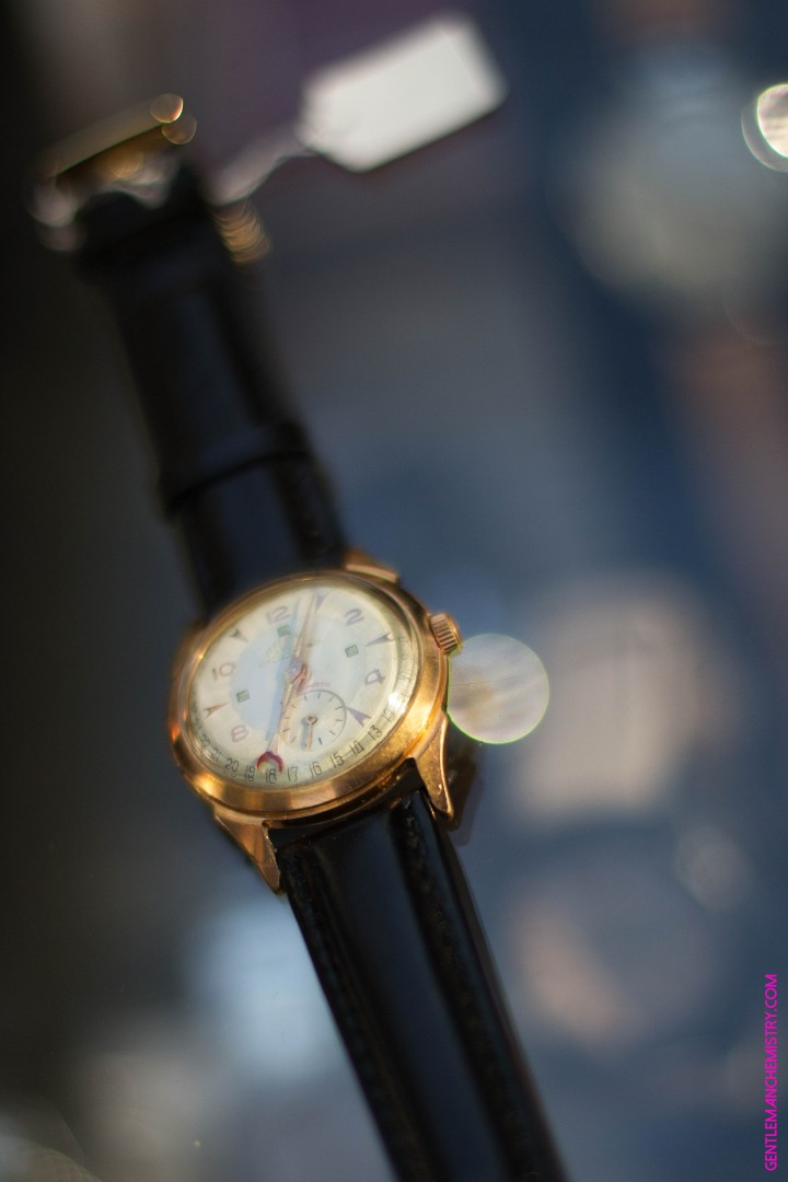 croissant watch red gold copie