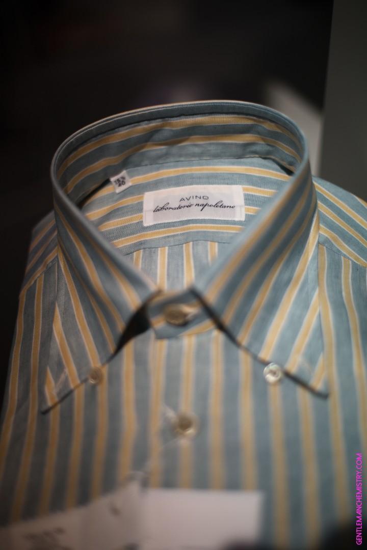 avino yellow green stripes shirt copie