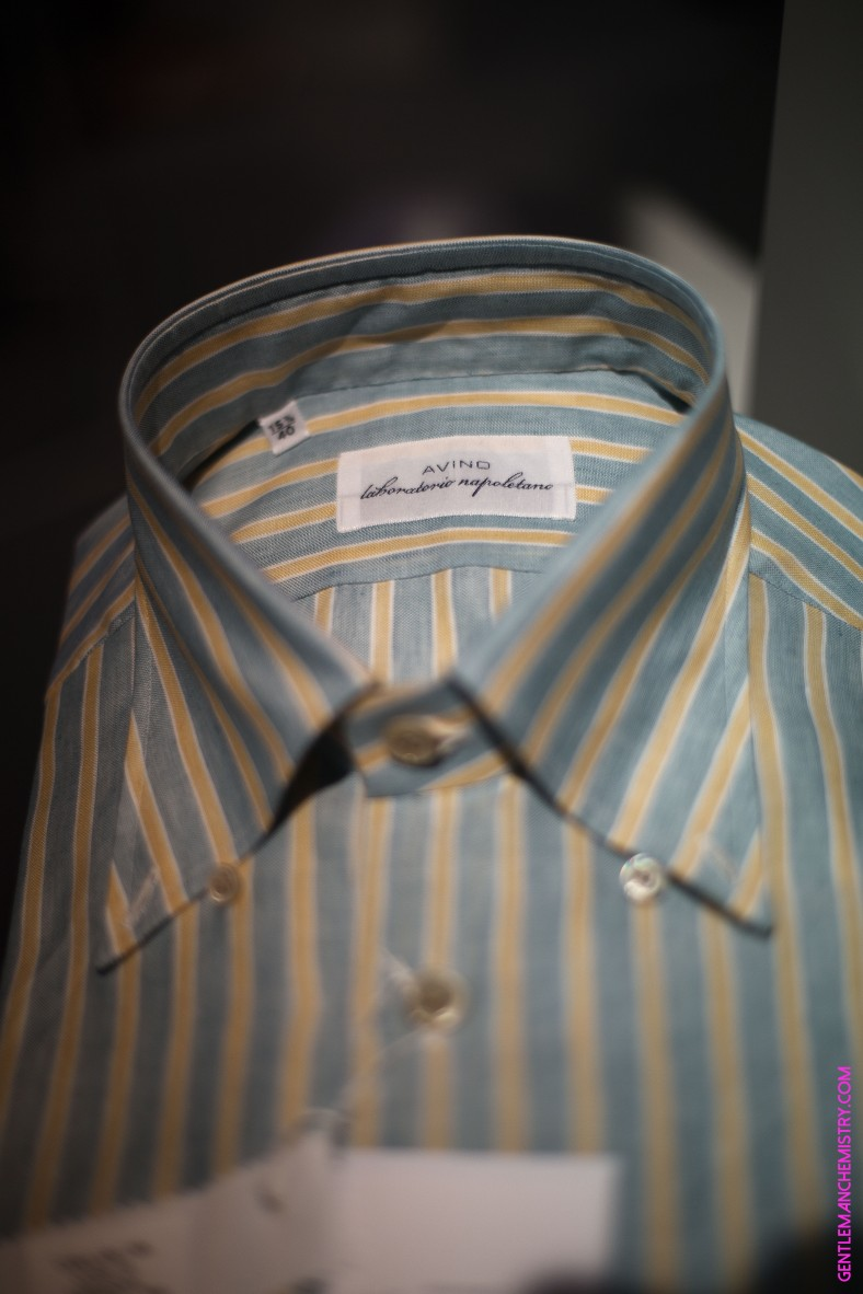 avino yellow green stripes shirt copie