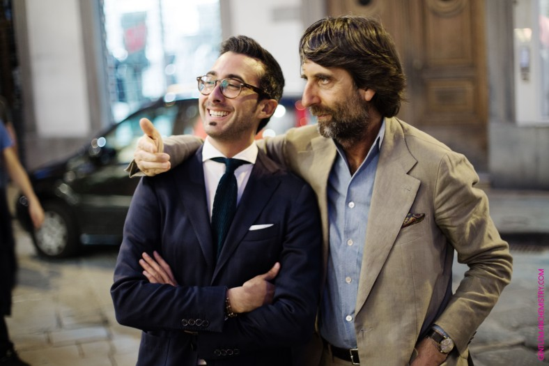ruggero & andré fuori evento barberis
