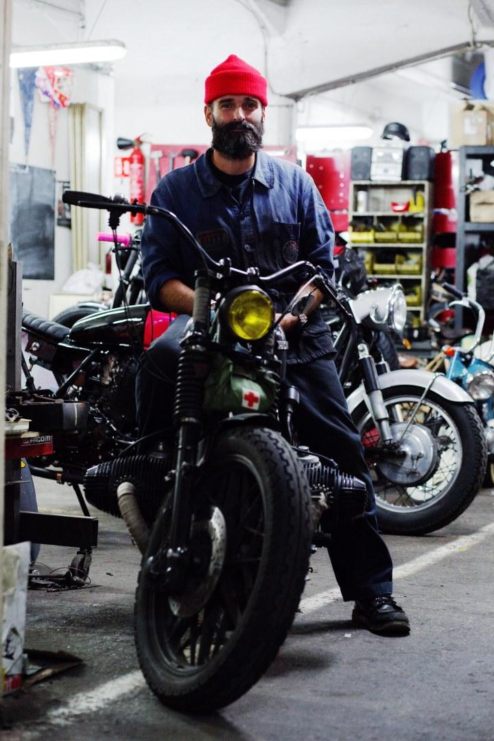 Fred Jourden, du hotmail Français à un garage de customisation de motosvintage