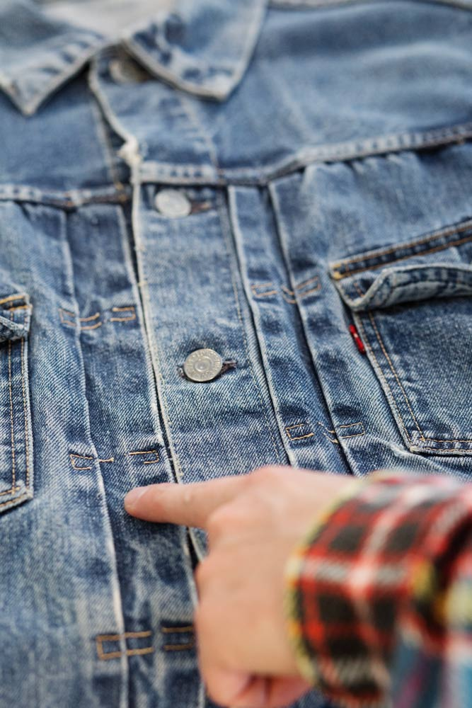 Veste Levi's vintage à la boutique SuperStitch Paris