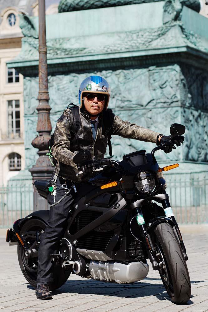 Portrait Laurent Picciotto Harley Davidson LiveWire