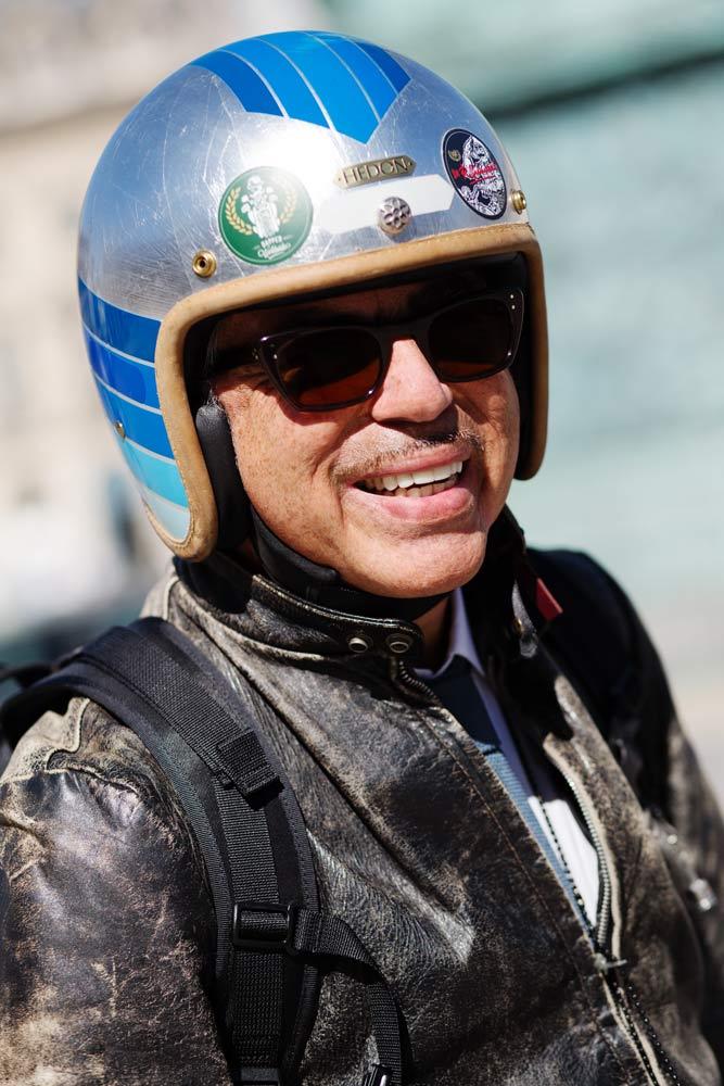 Portrait Laurent Picciotto casque Hedon Helmets