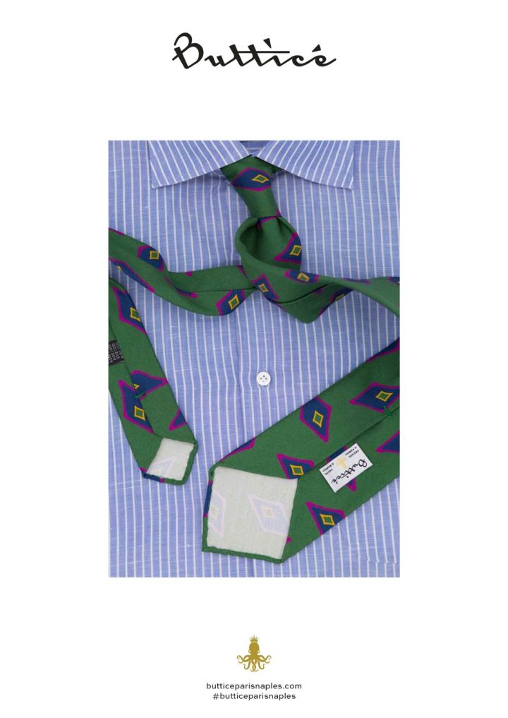 chemise-buttice-paris-naples-avvocato-cravate-verde-aquilone