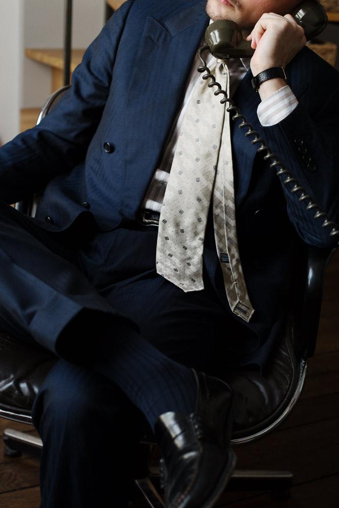 costume-croise-bleu-chemise-cravate-sartoriale-buttice-paris-naples